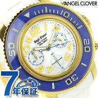 エンジェルクローバーシークルーズクロノグラフSC47YBU-WHAngelClover腕時計ホワイト