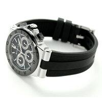 ブルガリBVLGARIディアゴノ37mmクロノグラフ腕時計DG37BSCVDCH
