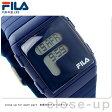 フィラ Fボックス ワールドタイム クオーツ 腕時計 38-105-003 FILA ネイビー