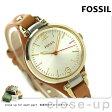 フォッシル ジョージア ES3565 FOSSIL レディース 腕時計 クオーツ シルバー×ナチュラル【あす楽対応】