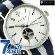 フルボ デザイン 自動巻き オープンハート メンズ F2001SNVWH Furbo Design 腕時計 シルバー×ネイビー