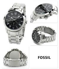 フォッシル腕時計メンズグラントクロノグラフブラックFOSSILFS4736
