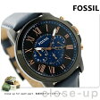 フォッシル グラント クロノグラフ クオーツ メンズ FS5061 FOSSIL 腕時計 ブラック×ネイビー