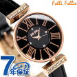 フォリフォリ ミニ ダイナスティ レディース 腕時計 WF13B014SSK-BK Folli Follie ブラック×ローズゴールド