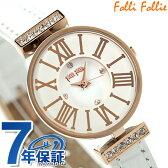 フォリフォリ ミニ ダイナスティ レディース 腕時計 WF13B014SSW-WH Folli Follie クオーツ ホワイト レザーベルト