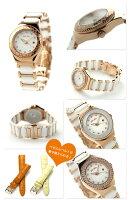 フォリフォリハートフォーハートレディース腕時計WF13B065BTWFolliFollieクオーツホワイト×ピンクゴールド