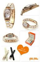 フォリフォリウィンターウィッシーズレディース腕時計WF14B022BSWFolliFollieクオーツマザーオブパール×ピンクゴールド