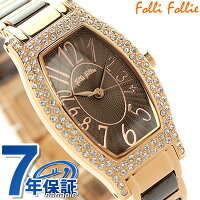フォリフォリデビュタントウォッチレディース腕時計WF2B027BPBFolliFollieクオーツブラウン×ピンクゴールド