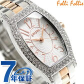 フォリフォリ デビュタント クオーツ レディース 腕時計 WF5T084BPZ Folli Follie ホワイト×ローズゴールド
