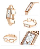 グッチ時計レディース1500ダイヤモンドホワイトシェル×ピンクゴールドGUCCIYA015560