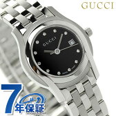 グッチ クオーツ Gクラス ダイヤモンド レディース 腕時計 YA055534 GUCCI ブラック