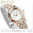 グッチ 時計 レディース Gクラス デイト ホワイトシェル×ピンクゴールド GUCCI YA055538