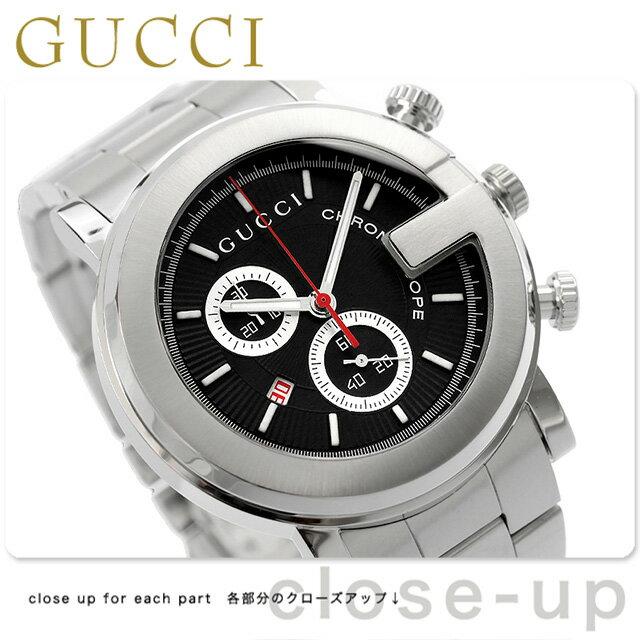 グッチ 時計 メンズ GUCCI 腕時計 G-CHRONO G-クロノ ブラック YA101309