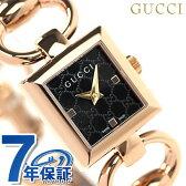 グッチ 時計 レディース トルナブォーニ ブラック×ピンクゴールド GUCCI YA120521