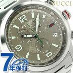 グッチ Gタイムレス XL クロノグラフ メンズ 腕時計 YA126248 GUCCI ブラウン