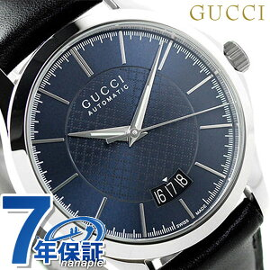 【5日は5,000円割引クーポンにポイント最大38倍】 グッチ 時計 メンズ GUCCI 腕時計 G-タイムレス 自動巻き YA126443 ネイビー × ブラック【あす楽対応】