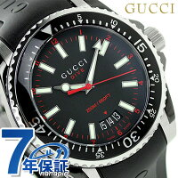 グッチダイヴクオーツメンズ腕時計YA136303GUCCIブラック