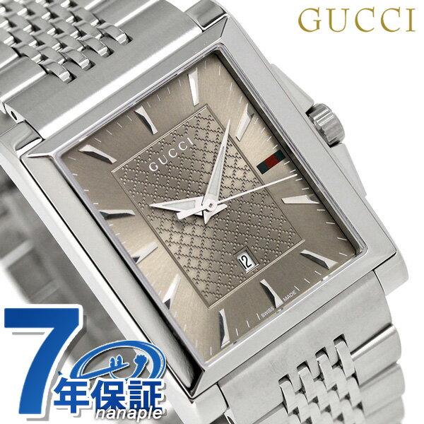 グッチ 時計 メンズ GUCCI 腕時計 Gタイムレス レクタングル クオーツ YA138402 ブラウン