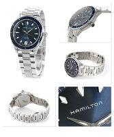 ハミルトンクオーツジャズマスターシービュー37mmレディースH37451141HAMILTON腕時計ネイビー