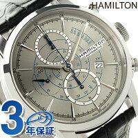 ハミルトンレイルロードオートクロノグラフメンズH40656781HAMILTON腕時計自動巻きシルバー×ブラック