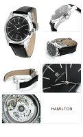 ハミルトン自動巻きスピリットオブリバティ42mmメンズH42415731HAMILTON腕時計ブラックレザーベルト