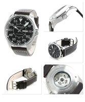 ハミルトン腕時計カーキパイロットオート46MM自動巻きメンズブラック×ブラウンカーフHAMILTONH64715535