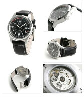 ハミルトン腕時計カーキフィールドオート40MM自動巻きメンズブラックレザーベルトHAMILTONH70595733