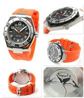 ハミルトン自動巻きカーキネイビーサブオートH78615985HAMILTONメンズ腕時計グレー×オレンジラバーベルト