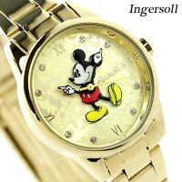 ディズニーミッキークラシックタイムコレクションDIN005GDGDインガソール腕時計ゴールド