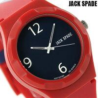 ジャックスペードグラフィックパターン40mmWURU0008JACKSPADEメンズ腕時計ネイビー×レッド
