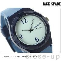 ジャックスペードグラフィックパターン40mmメンズWURU0073JACKSPADE腕時計クオーツライトブルー×ブルー