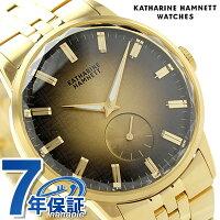 キャサリンハムネット日本製スモールセコンドKH28F7B84KATHARINEHAMNETTメンズ腕時計カッティングエッジメタルブレスレットクオーツゴールド
