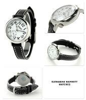 キャサリンハムネットスモールセコンドベイビー日本製KH70F9-01KATHARINEHAMNETTレディース腕時計クオーツホワイト×ブラック