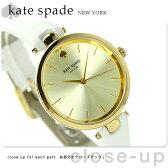 ケイトスペード ニューヨーク ホランド レディース KSW1117 KATE SPADE 腕時計 ゴールド×ホワイト【あす楽対応】