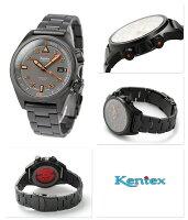 ケンテックスランドマンタフオートラージ限定モデルS678X-03Kentexメンズ腕時計自動巻き日本製グリーングレイ×ブラック