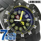ルミノックス 腕時計 ディープダイブ スコット・キャセル 自動巻き 500m防水 オールブラック×イエロー LUMINOX 1526