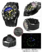 ルミノックス腕時計ディープダイブスコット・キャセル自動巻き500m防水オールブラック×イエローLUMINOX1526