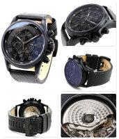 ルミノックスフィールドスポーツオートマチック腕時計ブラックアウトレザーベルトLUMINOX1861.BO