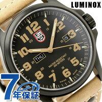 ルミノックスアタカマフィールドデイデイト腕時計ブラック×ライトブラウンレザーLUMINOX1925