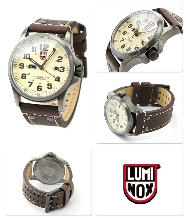 ルミノックス 腕時計 LUMINOX フィールド アタカマ メンズ デイデイト レザーベルト 1927 クリーム×ブラウン 時計【あす楽対応】
