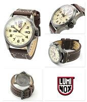 ルミノックスフィールドアタカマ腕時計メンズデイデイトクリーム×ブラウンレザーベルトLUMINOX1927