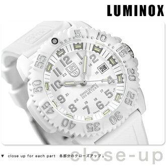 Luminox LUMINOX Navy Seals Snow Patrol 3057 White Watch rubber belt WHITE OUT 3057.WO