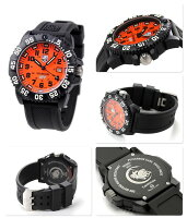 ルミノックス3059スコットキャセルコンパス3059.SETLUMINOXメンズ腕時計クオーツオレンジ×ブラック