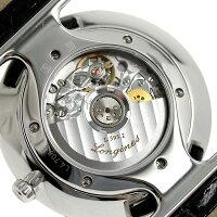 ラグランクラシックドゥロンジン34mm自動巻きL4.708.4.72.2LONGINES腕時計シルバー×ブラック