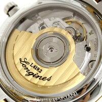 ロンジンフラッグシップ36mm自動巻きメンズ腕時計L4.774.3.21.7LONGINESホワイト×ゴールド