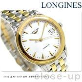 ロンジン フラッグシップ 36mm 自動巻き メンズ 腕時計 L4.774.3.22.7 LONGINES ホワイト×ゴールド