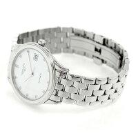 ロンジンフラッグシップ36mm自動巻きメンズ腕時計L4.774.4.27.6LONGINESホワイト