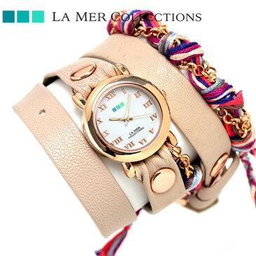 ラメール コレクション レザー レディース 腕時計 LMCW9006 LA MER ミクスド メディア マルチチェーン 時計