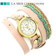 ラメール コレクション レザー レディース 腕時計 LMDEL1005 LA MER メキシコ【あす楽対応】