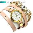 ラメール コレクション レザー レディース 腕時計 LMDELCRY3502 LA MER デルマー ストーン